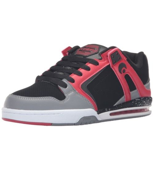 Osiris Pxl Black Red White Mens Skate Trainers Shoes