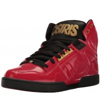 Osiris NYC 83 Red Black Gold Mens Hi Top Skate Trainers Shoes
