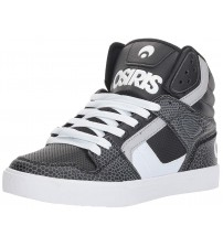 Osiris Clone Black White Gator Mens Skate Mid Trainers