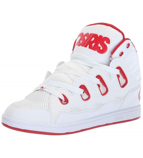 Osiris D3H White Red Mens Skate Mid Trainers Boots