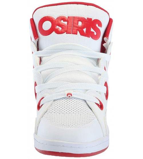 #Osiris D3H White Red Mens Skate Mid Trainers Boots