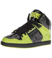 Osiris NYC 83 CLK Black Lime Mens Skate Mid Trainers Boots