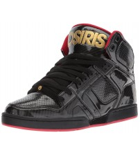 Osiris NYC 83 Black Gold Red Mens Hi Top Skate Trainers
