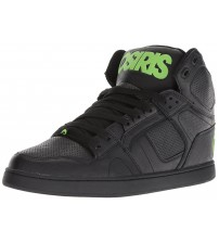 Osiris NYC 83 CLK Black Green Mens Hi Top Skate Trainers