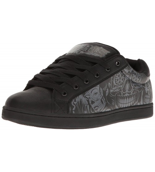 Osiris Troma Redux Black Grey Leather Mens Skate Trainers
