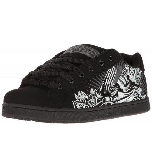 Osiris Troma Redux Black White Suede Mens Skate Trainers