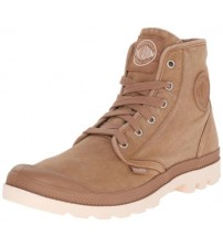 Palladium Pampa Hi Brown Mens Canvas Ankle Mid Boots