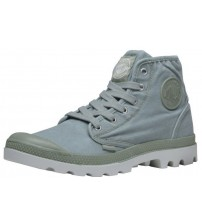 Palladium Pampa Hi Green Mens Canvas Ankle Mid Boots Shoes