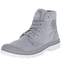 Palladium Pampa Hi Grey Mens Canvas Ankle Mid Boots Shoes