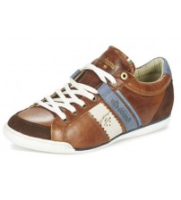 Pantofola d'Ora Pesaro Piceno Tan White Leather Mens Shoes Trainers