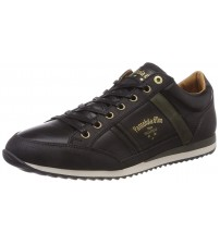 Pantofola d'Ora Matera Uomo Low Black Mens Leather Trainers