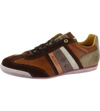 Pantofola d'Ora Imola Ascoli Brown White Leather Mens Shoes Trainers