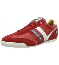 Pantofola d'Ora Vasto Funky Uomo Low Red Leather Mens Trainers