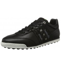 Pantofola d'Ora Imola Soccer Black White Leather Mens Trainers