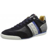 Pantofola d'Ora Imola Uomo Low Blue Grey Leather Mens Trainers