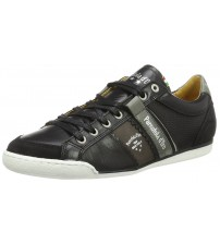 Pantofola d'Ora Savio Romagna Black White Leather Mens Trainers
