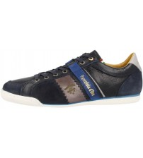 Pantofola d'Ora Savio Romagna Pesaro Piceno Navy White Leather Mens Trainers