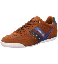 Pantofola d'Ora Vasto Uomo Low Brown Blue Mens Leather Trainers