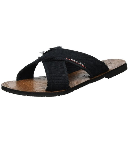 Replay Baltic Black Mens Summer Sandals Shoes