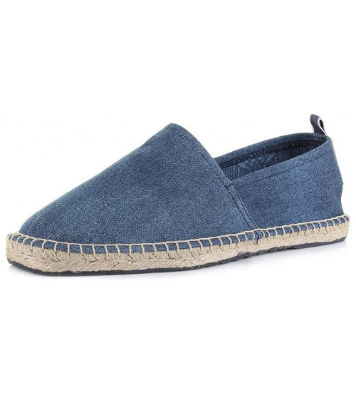 Replay Cury Denim Mens Canvas Espadrille Slipons Shoes