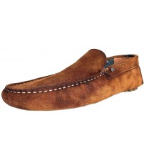 Replay Custer Brown Mens Suede Moccasin Loafers Shoes