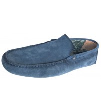 Replay Custer Navy Mens Suede Moccasin Loafers Shoes