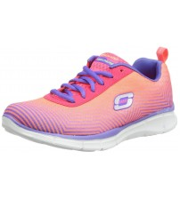 Skechers Equalizer Expect Miracles Pink Multi Womens Trainers Shoes