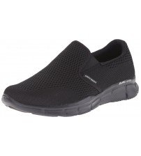 Skechers Equalizer Double Play Black Mens Slip Ons Trainers Shoes