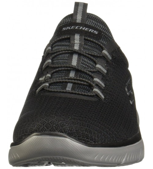 1141bd8ff8 Skechers Summits Black Charcoal Mens Trainers Shoes