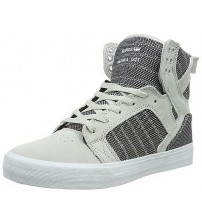 Supra Skytop Grey Violet Mens Suede Skate Trainers Boots