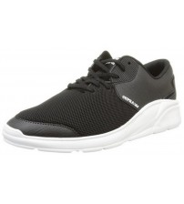 Supra Noiz Black White Men Leather Trainers Shoes