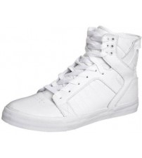 Supra Skytop White Men Leather Skate Trainers