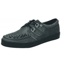 TUK A8594 Charcoal Leather Unisex Shoes