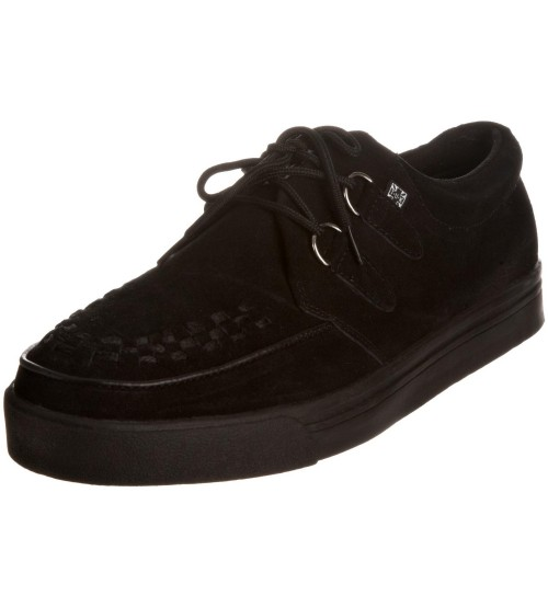 TUK A6061 Black Suede Womens Creepers