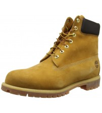 Timberland 6 Inch Premium Wheat Yellow Mens Leather Boots