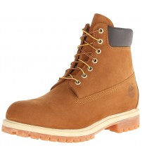 Timberland 6 Inch Premium Rust Orange Mens Leather Boots