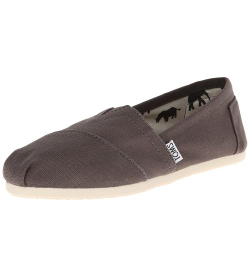 Toms Classic Ash White Men Canvas Slipons