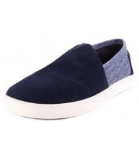 Toms Avalon Navy White Men Suede Sneakers  Slipons