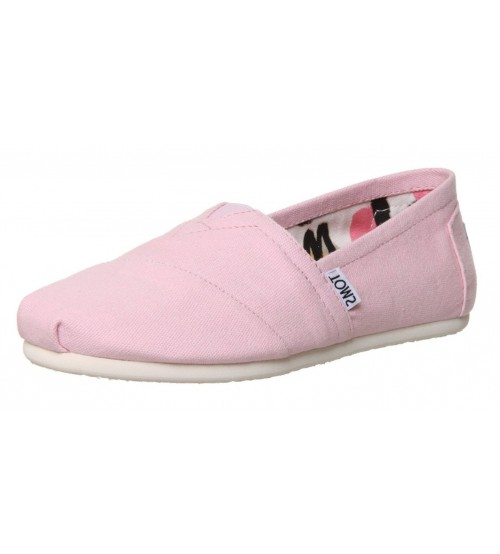 Toms Classic Pink Womens Canvas Slipons