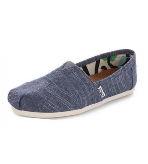 Toms Classic Chambray Womens Canvas Slipons