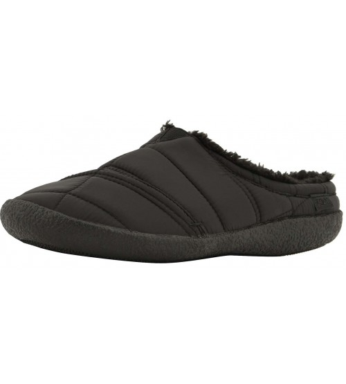 Toms Berkeley Black Quilted Nylon Mens Slippers Shoes