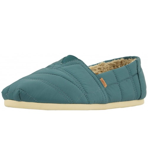 Toms Classic Stellar Blue Quilted Nylon Mens Espadrilles Shoes
