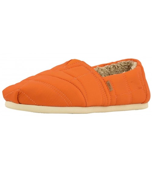 Toms Classic Burnt Orange Quilted Nylon Mens Espadrilles Shoes