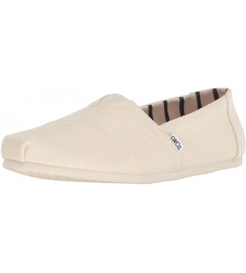 Toms Classic Antique White Mens Canvas Espadrilles Shoes