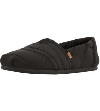 Toms Classic Black Quilted Nylon Mens Espadrilles Slipons Shoes