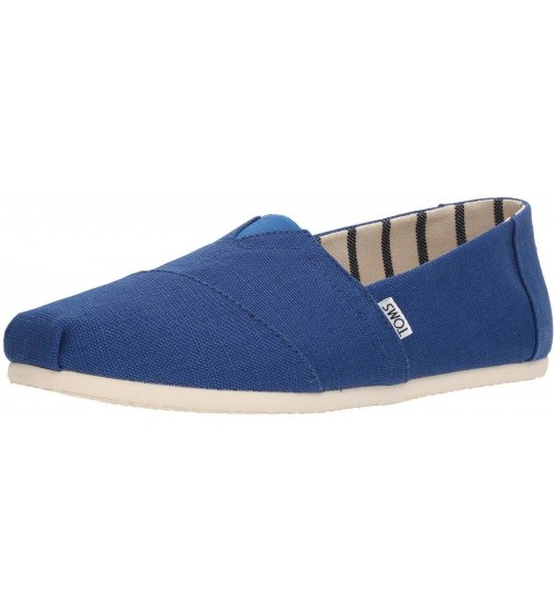Toms Classic Blue Heritage Mens Canvas Espadrilles Shoes
