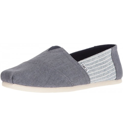 Toms Classic Ocean Stripe Mens Canvas Espadrilles Shoes