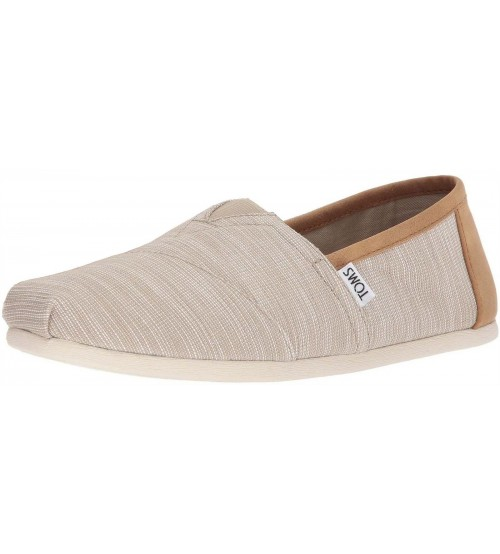 Toms Classic Tan Chambray Mens Canvas Espadrilles Shoes