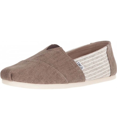 Toms Classic Toffee Stripe Mens Canvas Espadrilles Shoes