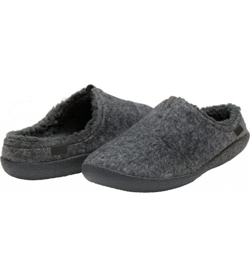 Toms Classic Grey Shearling Mens Slippers Shoes